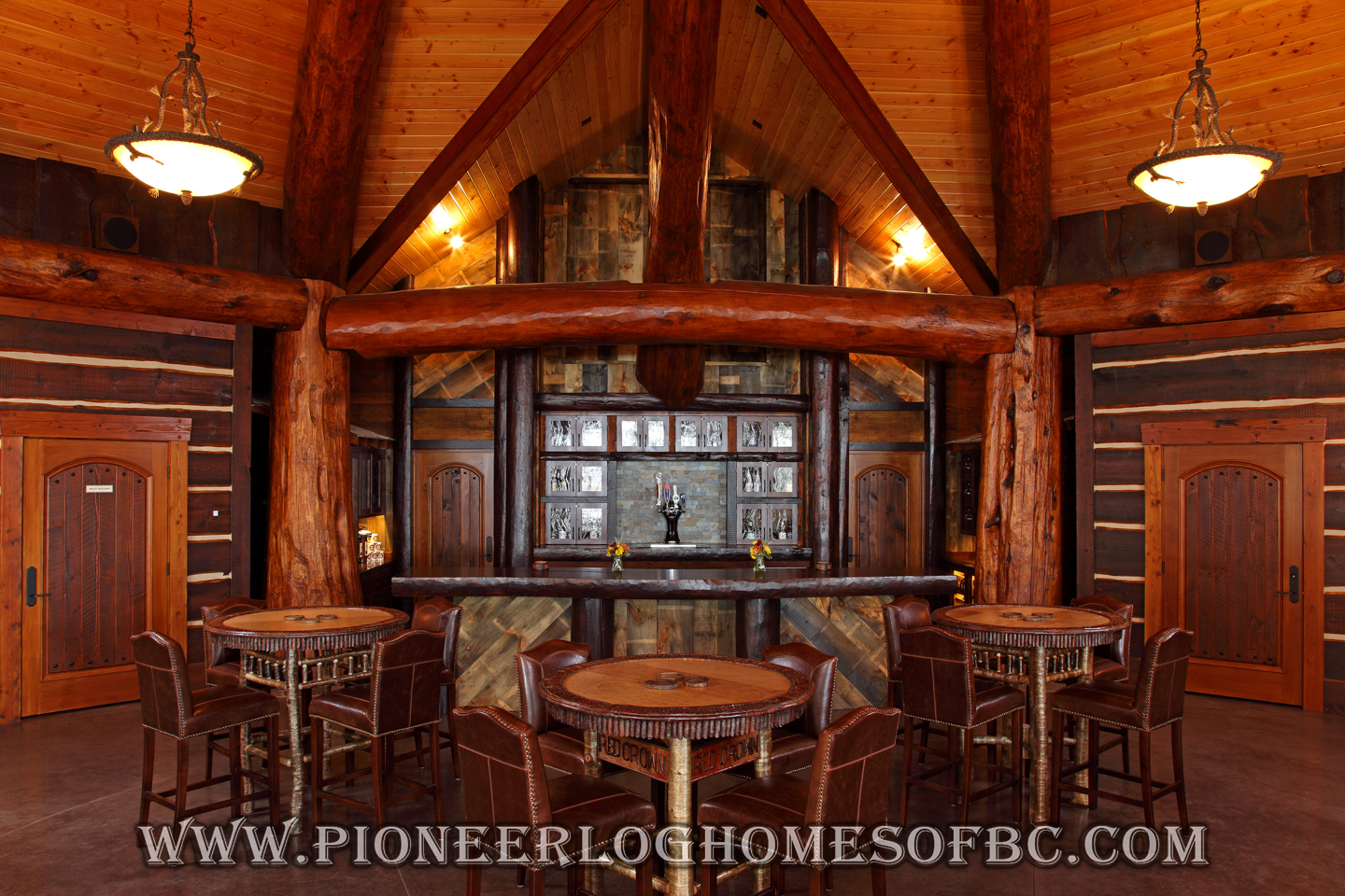 Bars And Games Rooms Log Home And Cabin Interiors