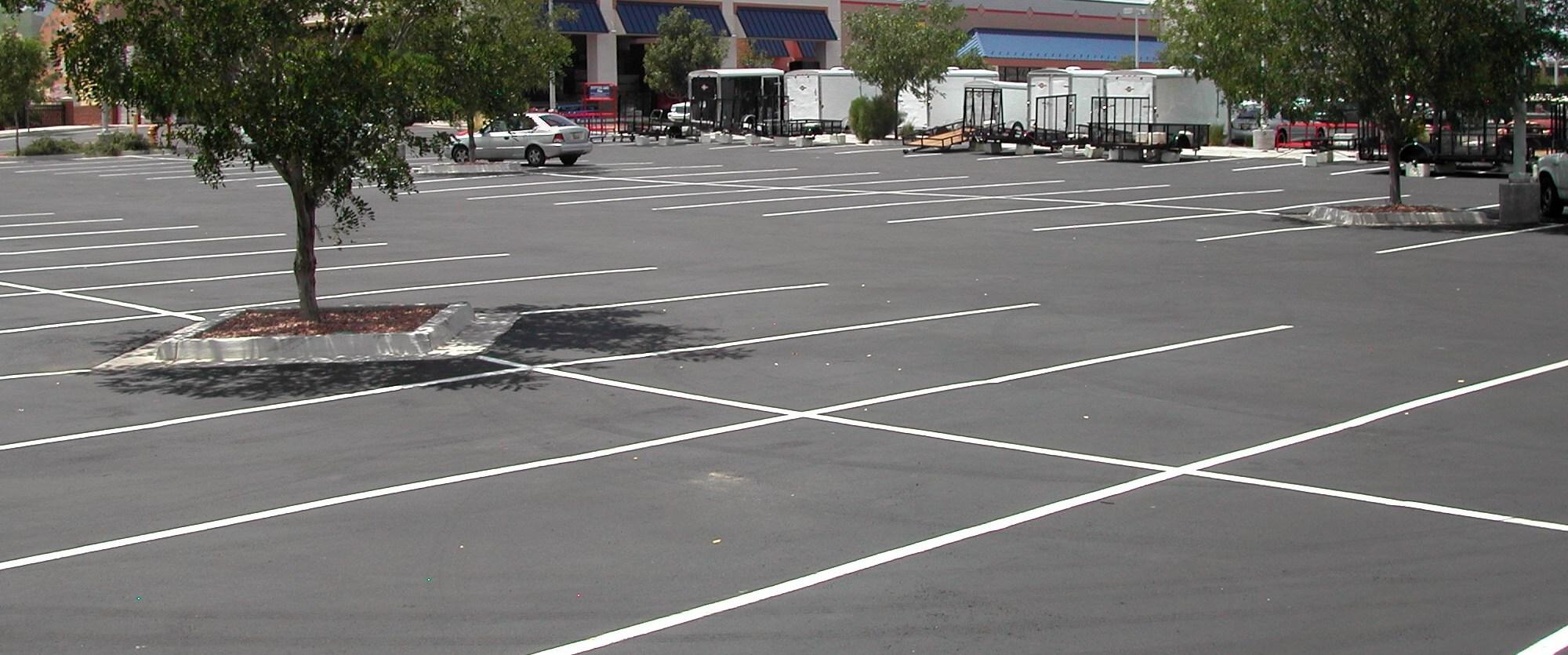 parking lot seal coating - after