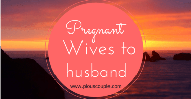 Pregnant Wives to husband