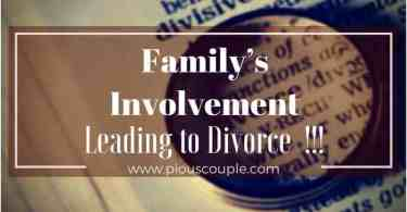 family involvement-leading to divorce