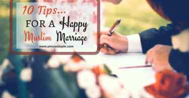 10 tips for a Muslim marriage