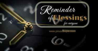 reminder of blessing for everyone