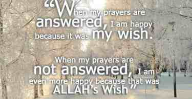 I am happy because it was my wish