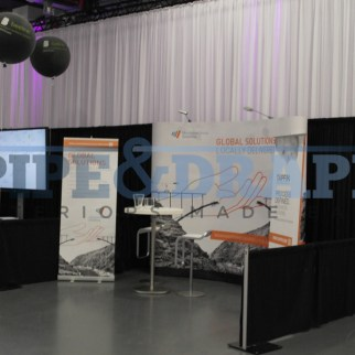 Exhibition Stand Building PIPE AND DRAPE BLACK EXPO STANDS 3