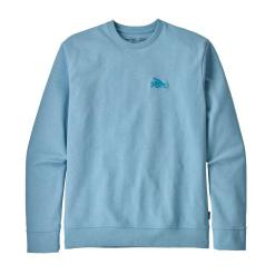 Patagonia Small Flying Fish Uprisal Crew Sweatshirt Break Up Blue BUPB