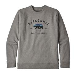 Patagonia Arched Fitz Roy Bear Uprisal Crew Sweatshirt Gravel Heather GLH