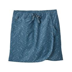 Patagonia Fleetwith Skort Swamp Stamp: Pigeon Blue SWPI