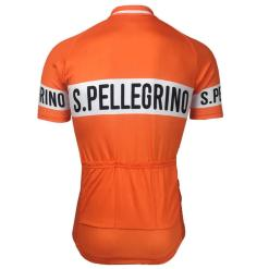 Freestylecycling Retro San Pellegrino Orange Men's Cycling Jersey