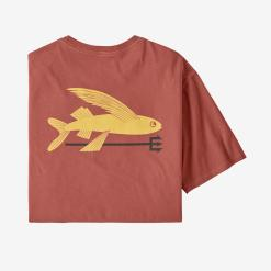 Patagonia Flying Fish Organic Cotton T-Shirt Spanish Red SPRE