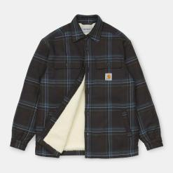 Carhartt Aiden Shirt Jac Aiden Check, Soot