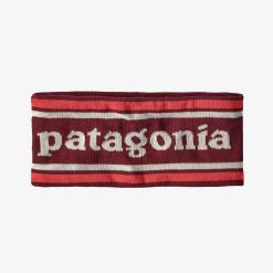 Patagonia Powder Town Headband Park Stripe Knit: Roamer Red PSRR
