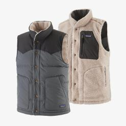 Patagonia Reversible Bivy Down Vest Forge Grey FGE