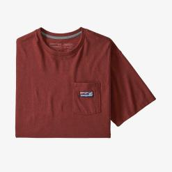 Patagonia Boardshort Label Pocket Responsibili-Tee Barn Red BARR