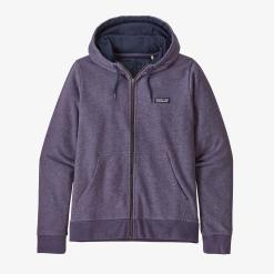 Patagonia P-6 Label French Terry Full-Zip Hoody Piton Purple PTPL