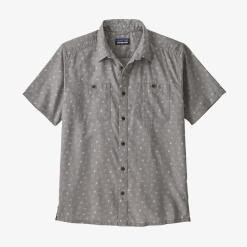Patagonia Back Step Shirt Guava Floral Toss: Salt Grey GUSG