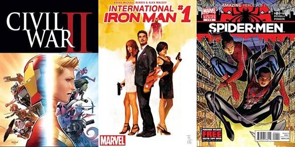 Jinxworld Bendis Three - Civil War II, International Iron Man, Spider-Men