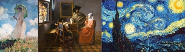 Monet, Van Gogh, and Vermeer did not draw feet