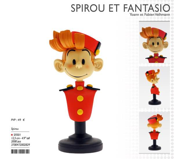 Spirou Bust from Attakus