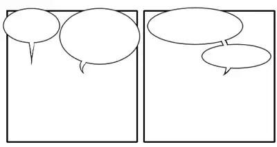 Comics lettering: Word balloons overlap border panels