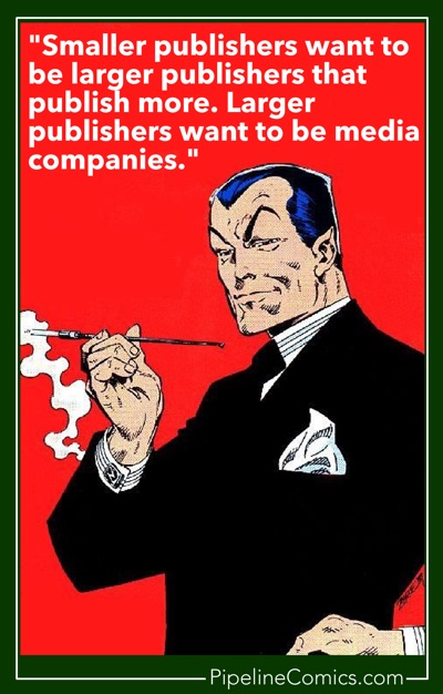 Namor, CEO knows the difference between large and small publishers.