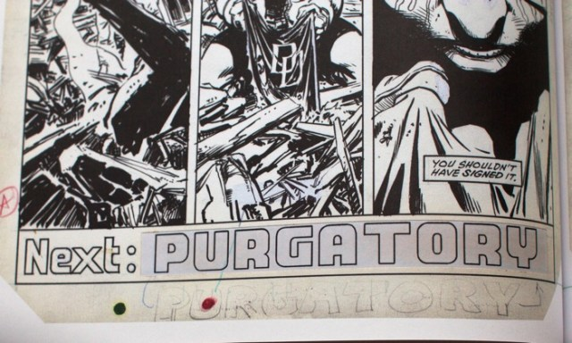 David Mazzuchelli's Born Again lettering sample