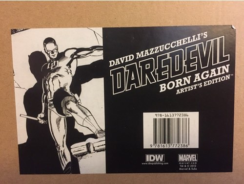 David Mazzuchelli Artist's Edition Daredevil Born Again package label