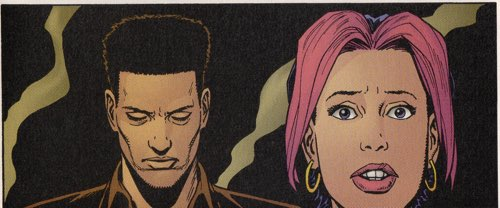 Steve Dillon draws a surprised and shocked Roxy in the Gen13 Bootleg Annual for WildStorm.