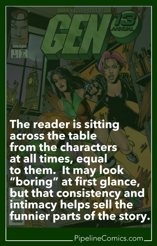 Steve Dillon on Gen13 quote card for Pinterest