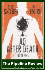 Pinterest Share Image for Pipeline Comics review of A.D. After Death #1 by Scott Snyder and Jeff Lemire