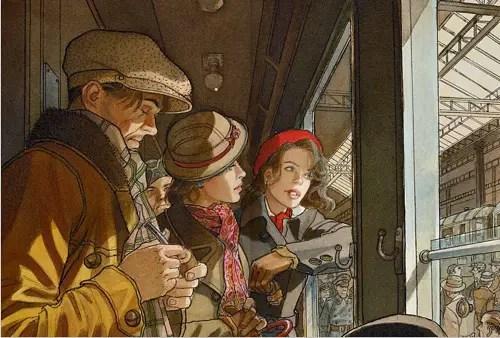 Jean-Pierre Gibrat paints window light well