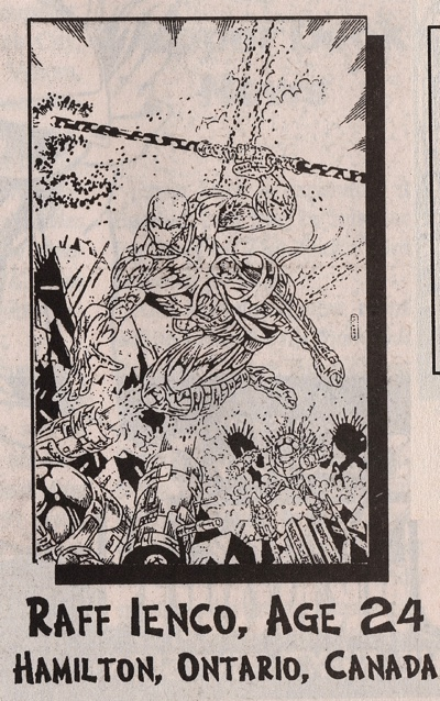 Raff Ienco fan art from Arena Magazine of August 1993.