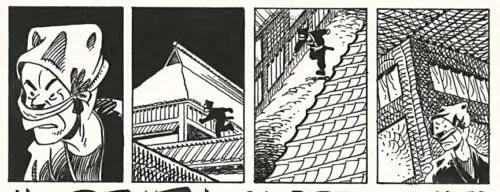 A ninja stalks the rooftops in Stan Sakai's Usagi Yojimbo