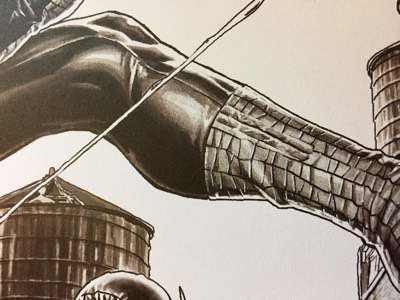 Lee Bermejo draws Spider-Man's costume in graphic detail