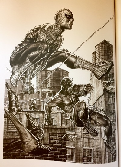 Lee Bermejo draws a super realistic Spider-Man and Daredevil for Marvel Comics