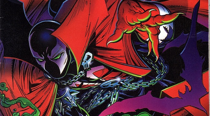 Spawn #1 cover detail