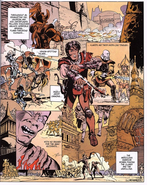 Mezieres draws a full page image in the third Valerian and Laureline volume.