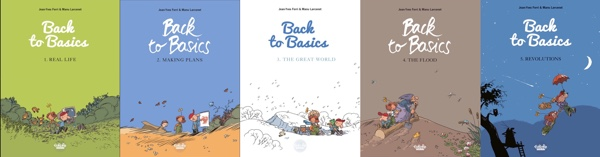 All Back to Basic covers side by side
