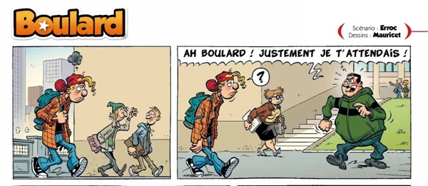 "Boulard is the French equivalent of the comic strip ""Zits"""