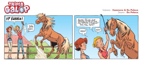 """Triple Galop"" - the comic for horse riders."
