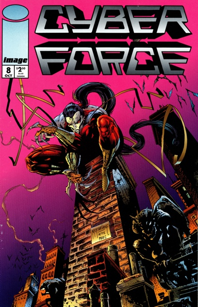 Todd McFarlane's CyberForce #8 cover for Image X Month