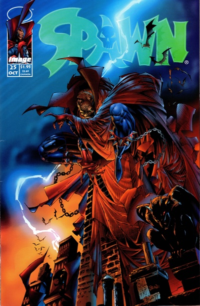 Spawn #25 cover by Marc Silvestri for Image X Month