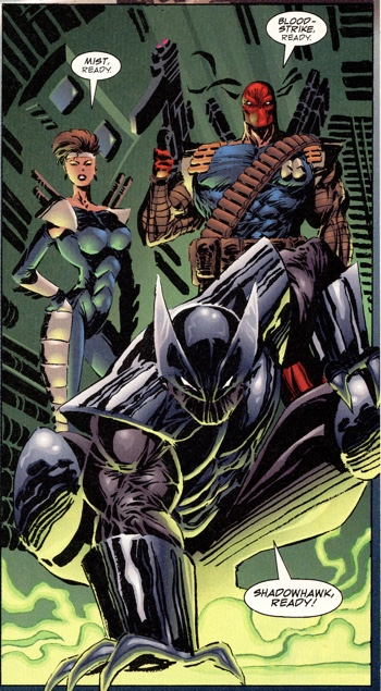 Rob Liefeld's opening page from ShadowHawk #0 during Image X Month