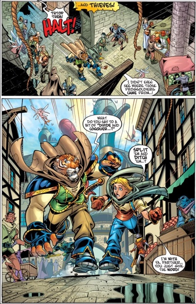 Tellos #1 page 4 by Todd Dezago and Mike Wieringo