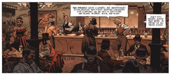 A bar scene from Undertaker volume 1 by Ralph Meyer