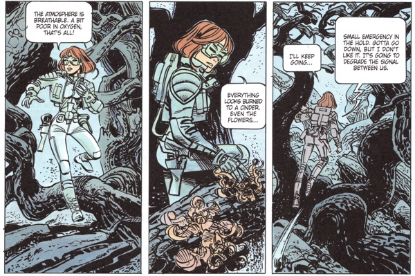 Laureline explores outside the ship, and you just know stuff is about to go down.