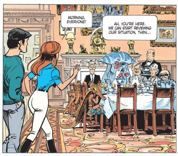 v12 Valerian and Laureline and everyone is sitting down for breakfast