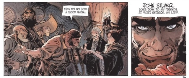 Long John Silver is introduced to Lady Vivian Hastings