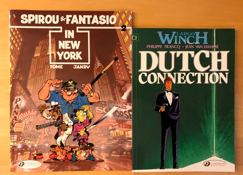 Compare size of Cinebook printing between Largo Winch and Spirou and Fantasio