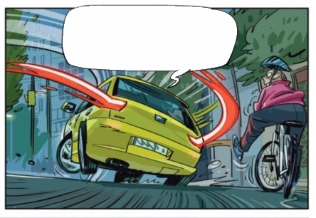 Iglesias draws a fast car turning in Ghost of Gaudi