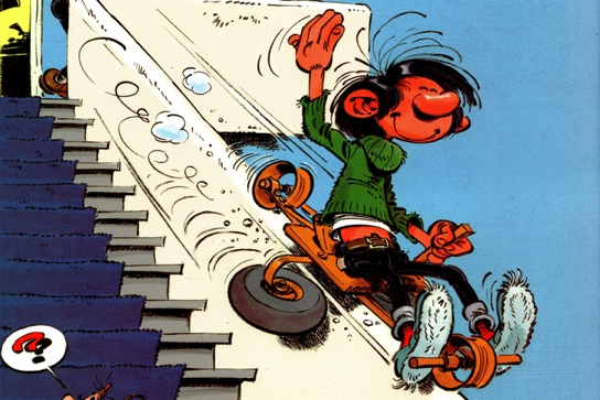 Gomer Goof v1 cover header by Franquin